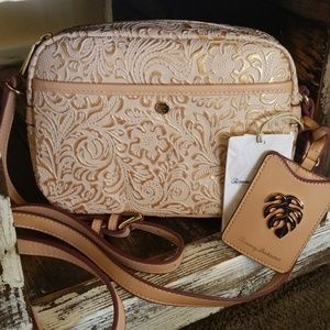 Tommy Bahama Hand Painted Leather Bag Crossbody